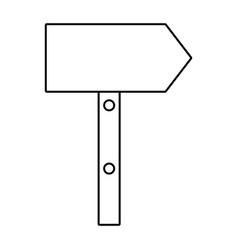 Cute arrow guide wooden vector