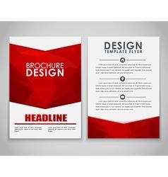 Design brochures polygonal style vector image
