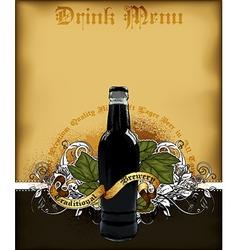 Drink menu vector