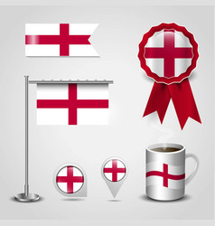 england united kingdom country flag place on map vector image