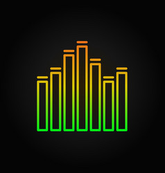 Equalizer outline concept music icon or vector