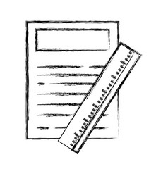 Figure paper document with ruler object design vector