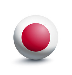 flag of japan in the form of a ball vector image