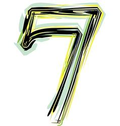 Font NUMBER 7 vector