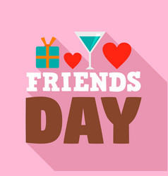 friends day logo flat style vector image