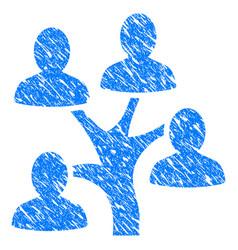 genealogy tree grunge icon vector image