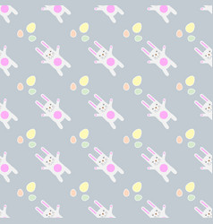 gentle print easter seamless pattern funny vector image