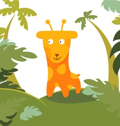 giraffe in forest vector image