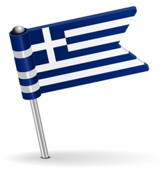 Greece pin icon flag vector