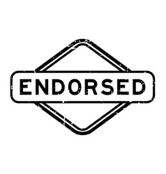 Grunge black endorsed word rubber seal stamp vector