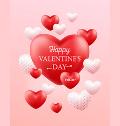 happy valentines day holiday banner flyer vector image