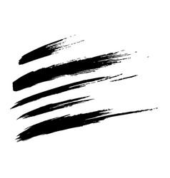Hnd drawn grunge oblique brush strokes vector