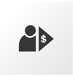 investor icon symbol premium quality isolated vector image