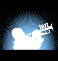 jazz musician on the abstract background vector image