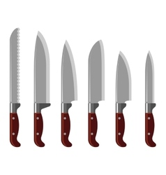 Kitchen knife collection vector image