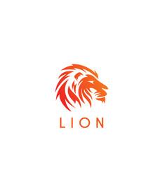 Lion head wind logo vector