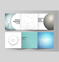 minimal layout modern covers design vector image