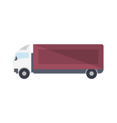 modern lorry truck side view icon vector image
