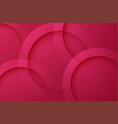 Modern maroon backgrounds abstract 3d circle vector