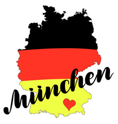 muenchen munich hand drawn lettering vector image