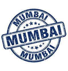 Mumbai blue grunge round vintage rubber stamp vector