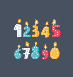 numbers candles on dark vector image