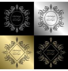 Ornamental vintage emblem or label vector image