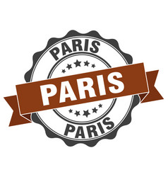 Paris round ribbon seal vector