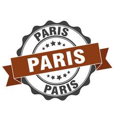 Paris round ribbon seal vector