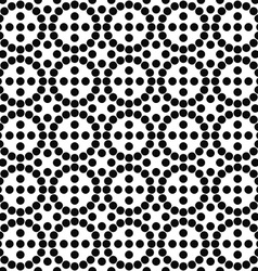 Repeating black and white circle pattern vector image