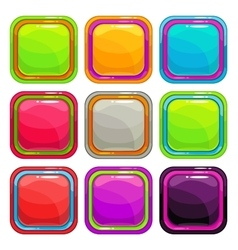 Rounded square app icons vector image