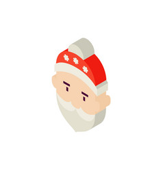 santa head isometric object vector image