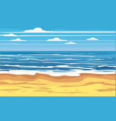 seascape tropical beach travel holiday vacation vector image