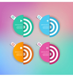 Set of abstract circles background with place for vector image