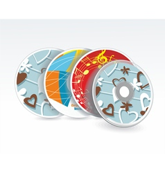 Set of cd covers vector image