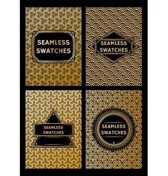 Set of luxury geometric patterns for the premium vector