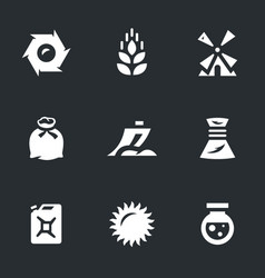 set wheat icons vector image