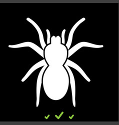 spider or tarantula it is white icon vector image