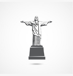 statue jesus christ in rio de janeiro vector image