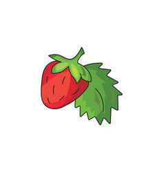 strawberry icon on a white background vector image