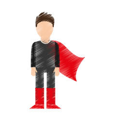 Super hero with layer vector