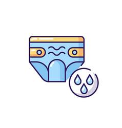 Swim diaper rgb color icon vector
