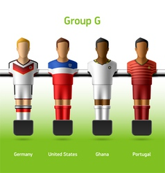 Table football foosball players vector image