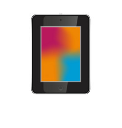 Tablet in ipad style black color with trending vector