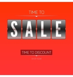 Time to discounts vector image