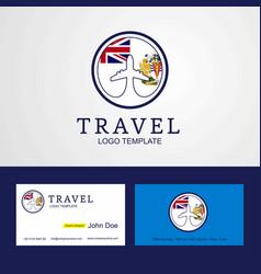 Travel british antarctic territory creative vector
