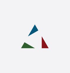 triangle geometric simple logo element symbol vector image