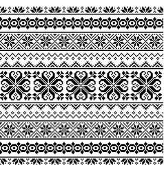 ukrainian belarusian folk art seamless pattern vector image