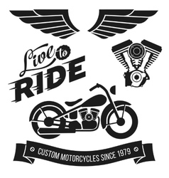 Vintage motorcycle design vector image