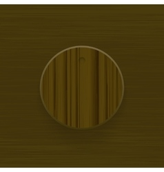 Wood technology music button volume knob with vector image
